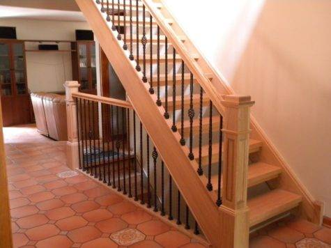 Wood Stairs Rails Iron Balusters August