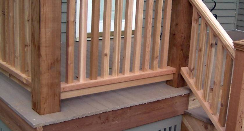 Wooden Deck Railing Designs Lighting Furniture Design
