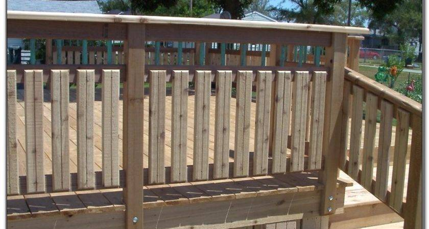 Wooden Deck Railing Ideas Decks Home Decorating