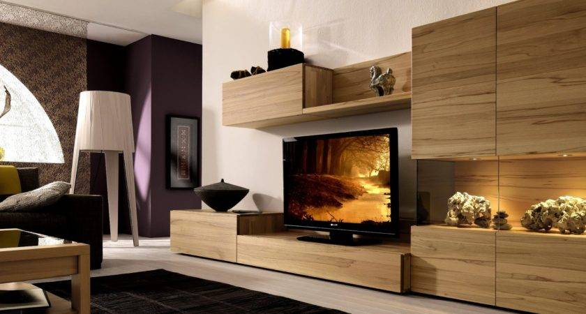 Wooden Finish Wall Unit Combinations Lsta