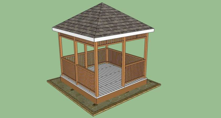 Wooden Gazebo Plans Howtospecialist Build Step