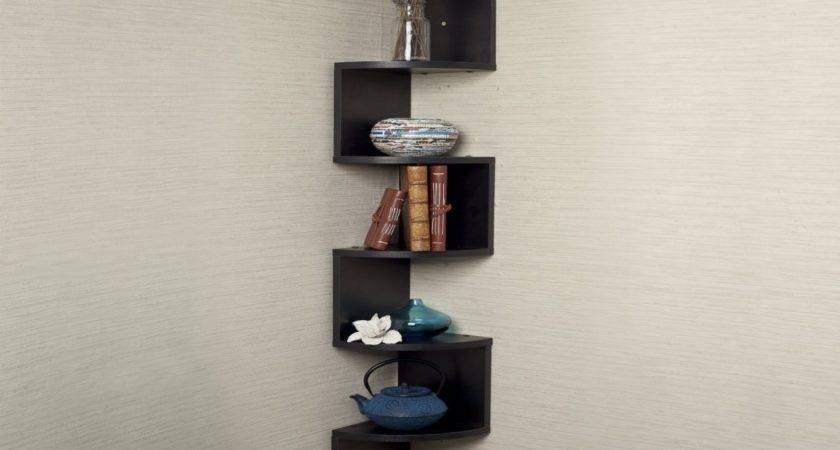 Wooden Glass Corner Rack Small Wood Shelf