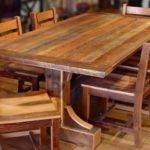Wooden Rustic Kitchen Table Sets New Lighting