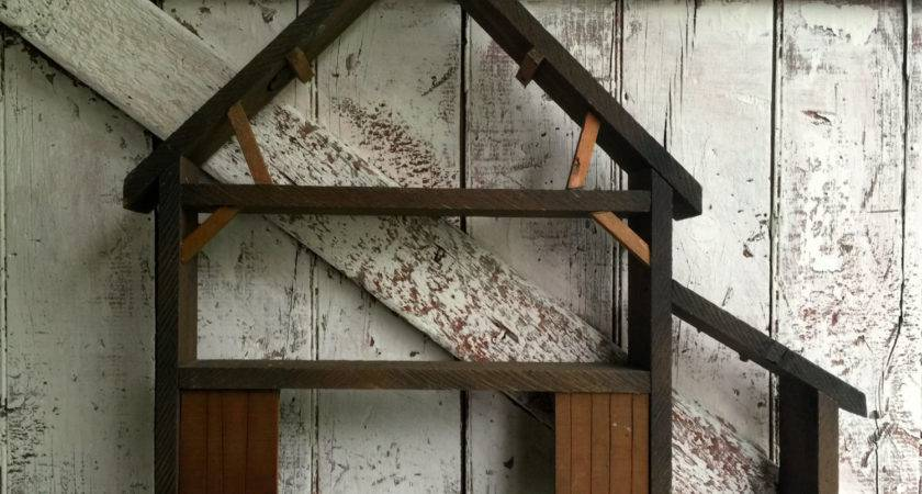Wooden Wall Shelf Primitive