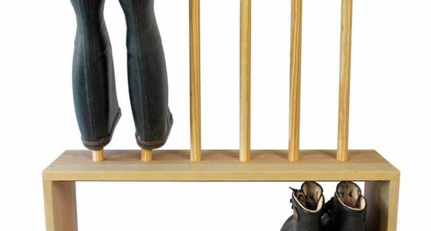 Wooden Welly Boot Shoe Rack Prs Boots Saw