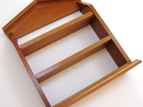 Wooden Wood Display Shelf Knick Knack Wall Hanging