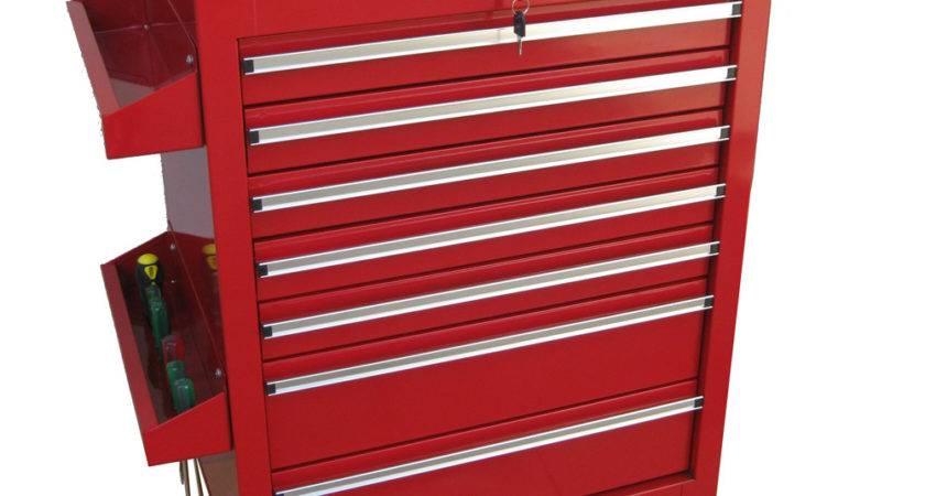 Workshop Tool Trolley Rollers Cart Box Cabinet Power