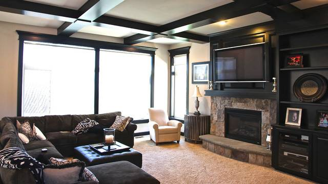Would Dare Paint Your Trim Black Modern Living