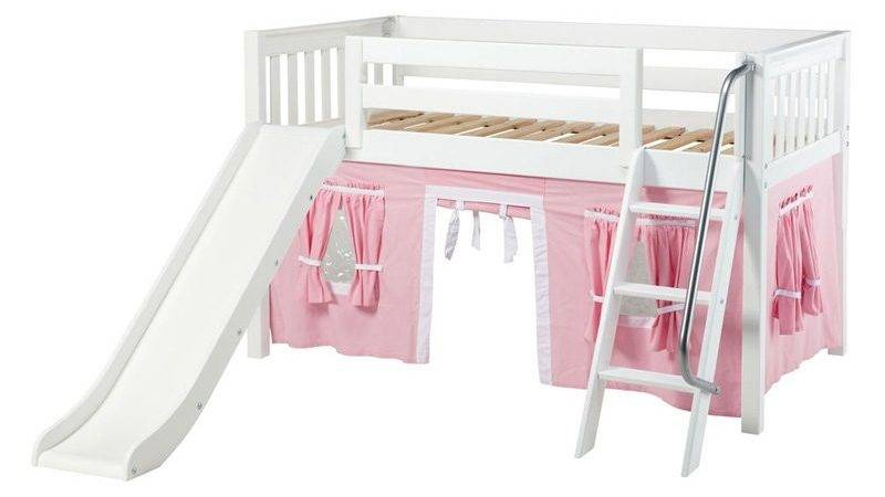 Wow Girl Slat Low Loft Tent Bed Slide Bunk Beds
