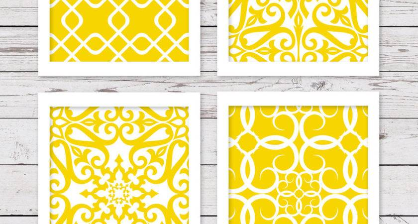 Yellow Art Printable Wall Instant