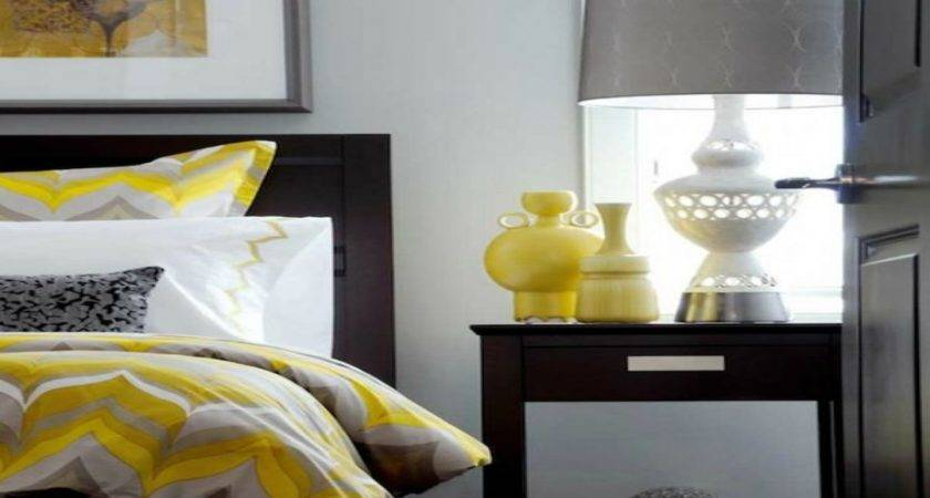 Yellow Bedroom Accessories White Grey