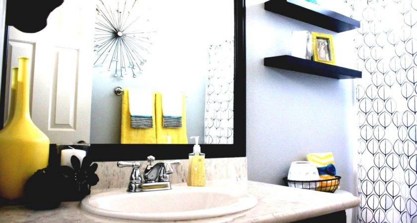 Yellow Black Bathroom Decorating Ideas
