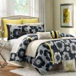 Yellow Black Bedroom Decor Comforters Sets