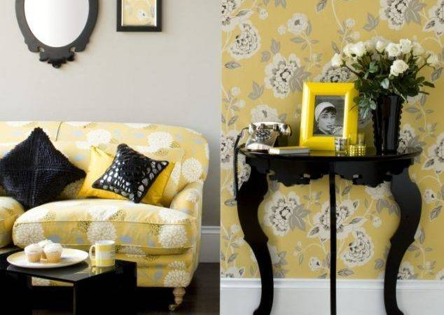 Yellow Black Bedroom Decor Room Decorate House
