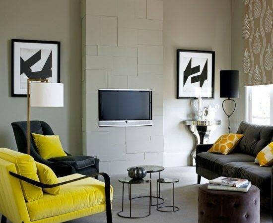 Yellow Black Bedroom Decor White