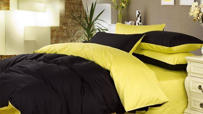 Yellow Black Comforter Set King Queen Sets Ecfq Info