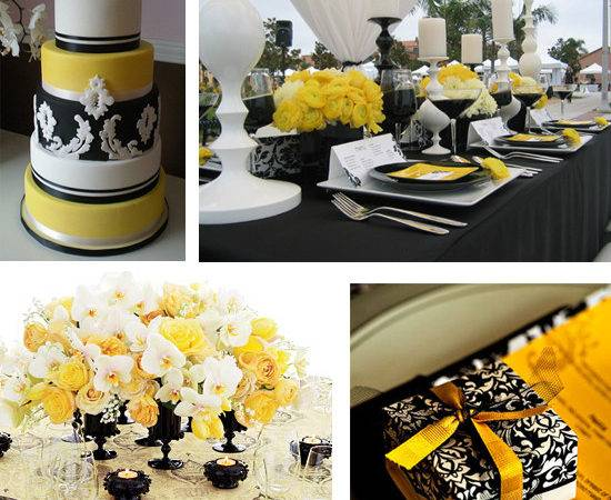 Yellow Black Wedding Theme Pinterest