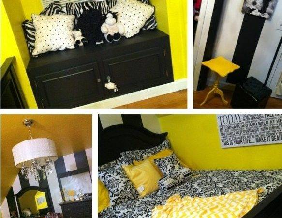 Yellow Black White Bedroom Pics Pinterest