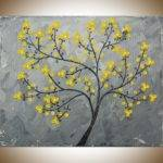 Yellow Blossoms Qiqigallery Painting Original