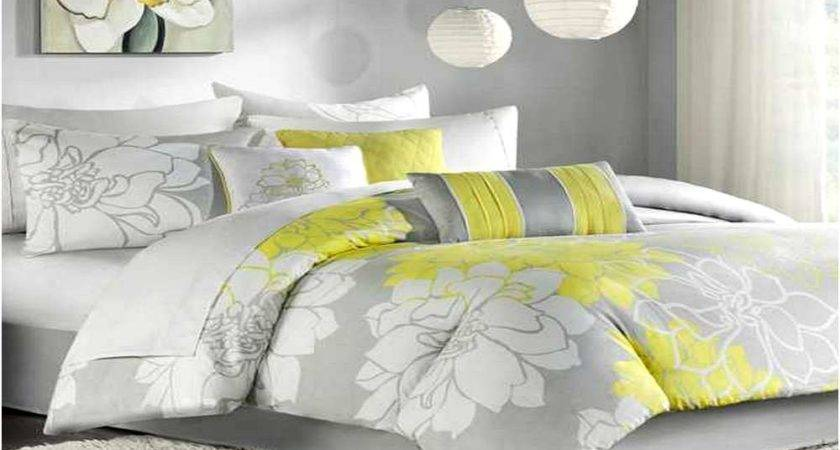 Yellow Blue Gray Bedding Home Design Remodeling Ideas