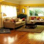 Yellow Brown Living Room Decor Modern House