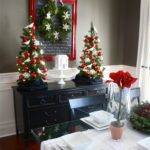Yellow Cape Cod Holiday Home Series Christmas Dining