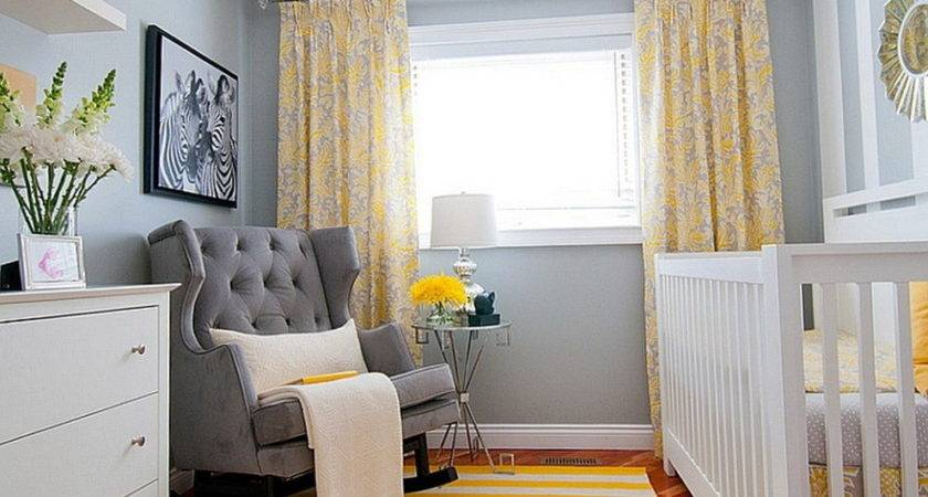 Yellow Curtains Gray Walls Home Design Ideas