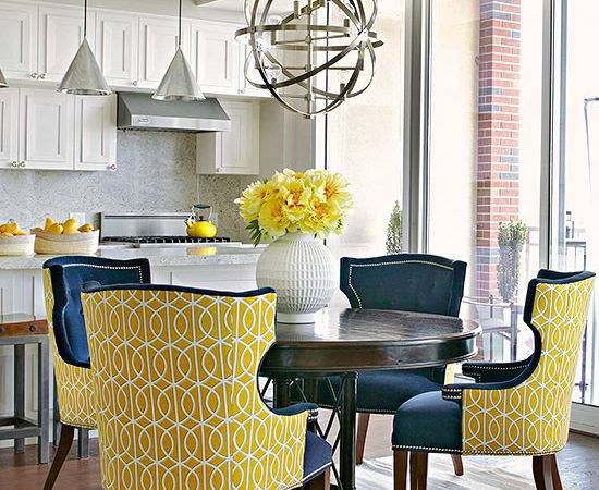 Yellow Dining Chairs Contemporary Room Bhg