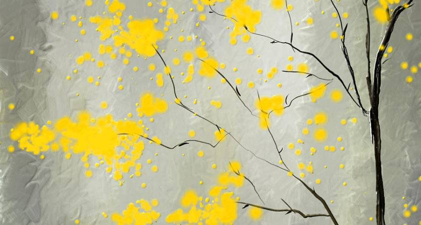 Yellow Foliage Impressionist Painting Lourry Legarde