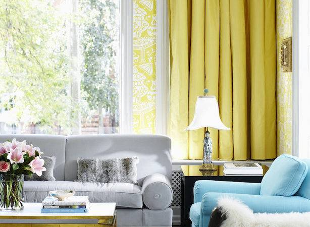 Yellow Gray Room Contemporary Dining Diane