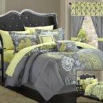 Yellow Grey Comforters Archives Bedroom Decor Ideas