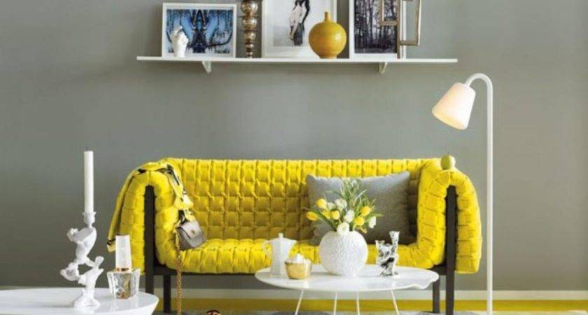 Yellow Grey Living Room Carpet Bookcase