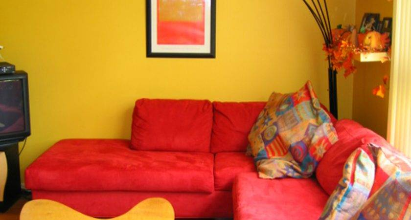 Yellow Living Room Blue Design