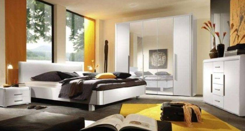 Yellow White Bedroom Black