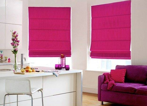 Your Home Features Connecticut Fuchsia Roman Blind