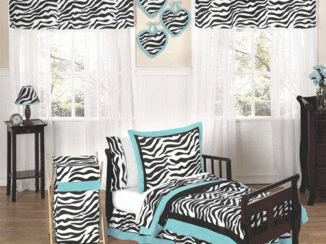 Zebra Turq Toddler Bedroom Set Choose Best Print