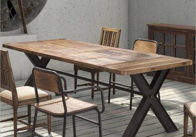 Zuo Era Steel Reclaimed Wood Table Eclectic